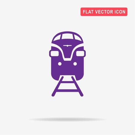 Train icon. Vector concept illustration for design. Illustration