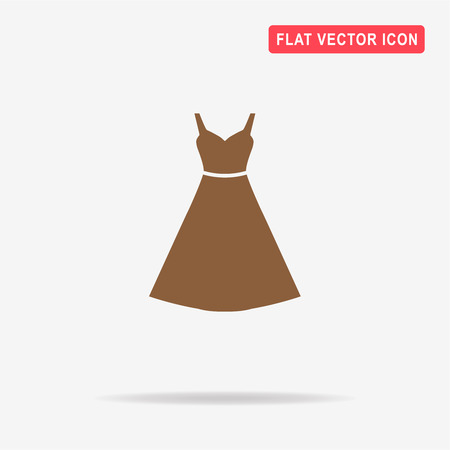 Dress icon. Vector concept illustration for design. Illustration
