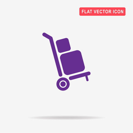 Delivery trolley icon. Vector concept illustration for design.