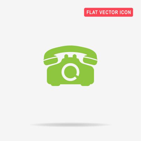 retro telephone: Retro telephone icon. Vector concept illustration for design.