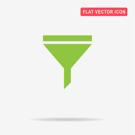 Filter icon. Vector concept illustration for design.