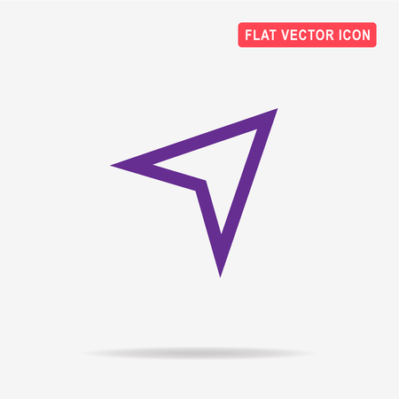 Arrow navigator icon. Vector concept illustration for design. Illustration