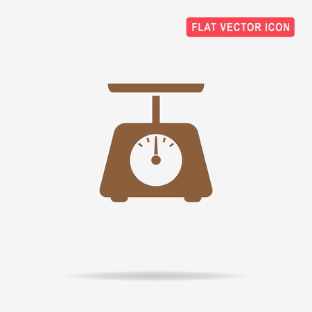 Kitchen scales icon. Vector concept illustration for design.