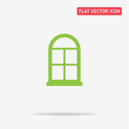 transom: Window icon. Vector concept illustration for design.