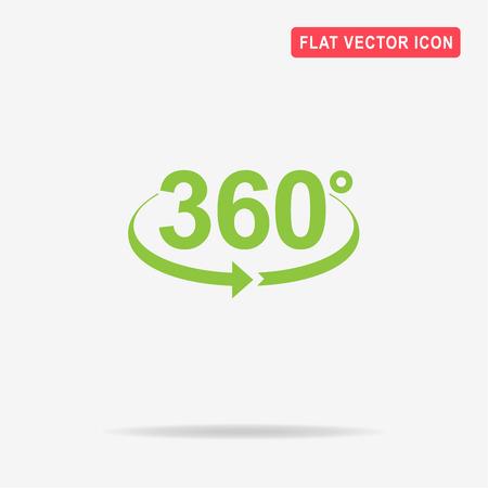 角度 360 度アイコン。デザインのベクトルの概念図。  イラスト・ベクター素材