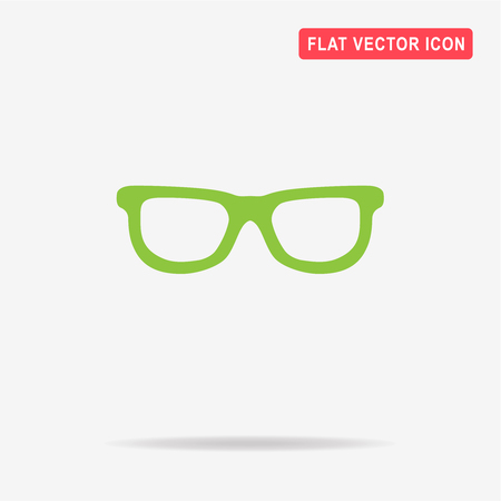 rimmed: Sunglasses icon. Vector concept illustration for design. Illustration