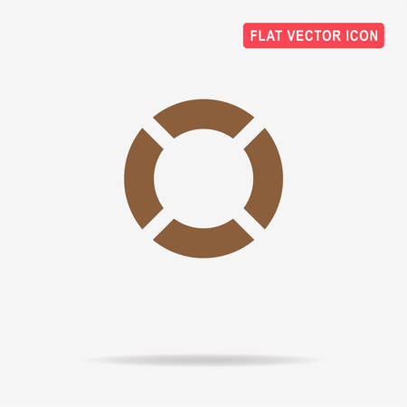 swimming belt: Lifebuoy icon. Vector concept illustration for design.