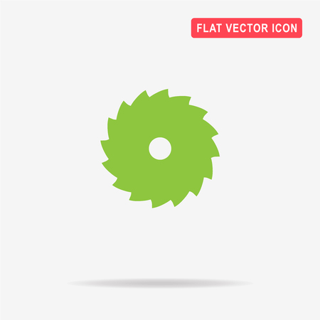 Industrial saw icon. Vector concept illustration for design.