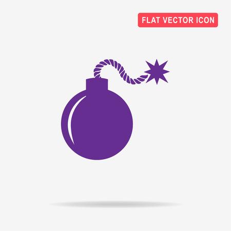 dinamita: icono de bomba. Vector ilustración del concepto para el diseño. Vectores