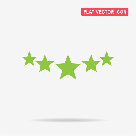 5 stars icon. Vector concept illustration for design.