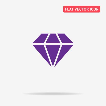 Diamond icon. Vector concept illustration for design.