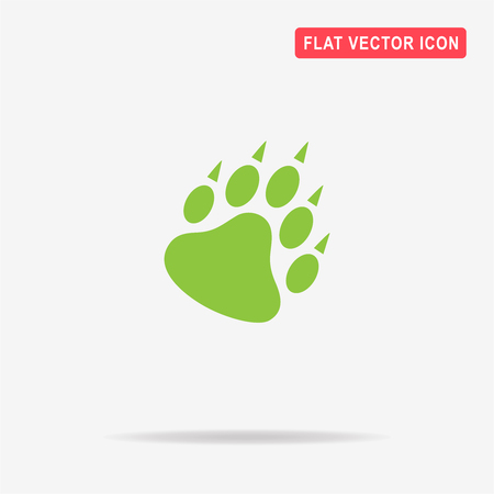 big foot: Bear paw icon. Vector concept illustration for design. Illustration