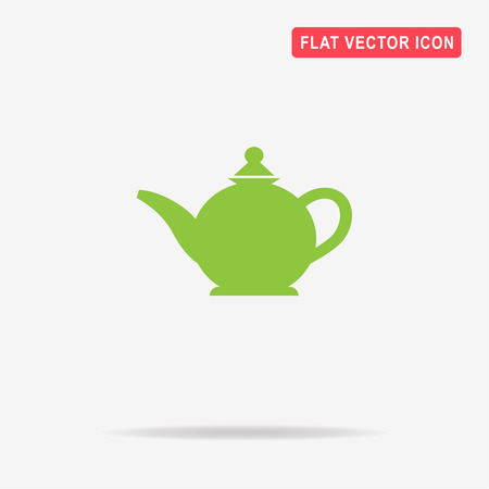 Teapot icon. Vector concept illustration for design. Illustration