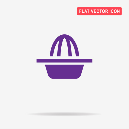 squeezed: Hand juicer icon. Vector concept illustration for design. Illustration
