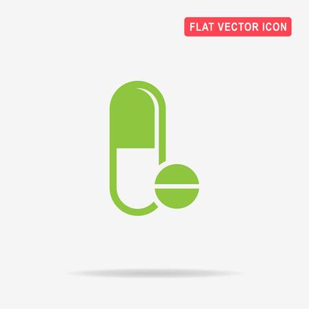 Pills icon. Vector concept illustration for design. Illustration