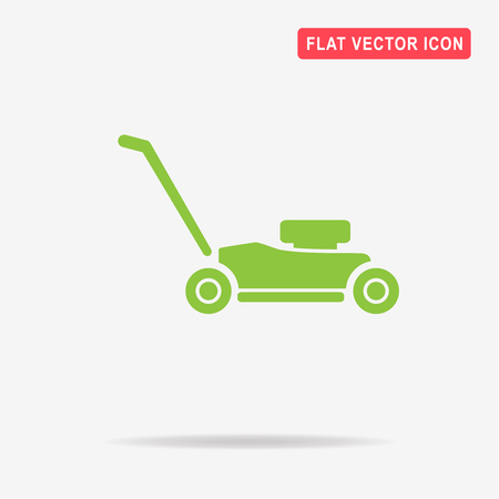 Lawn mower icon. Vector concept illustration for design.