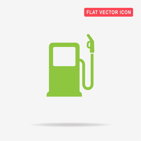 Gas station icon. Vector concept illustration for design.