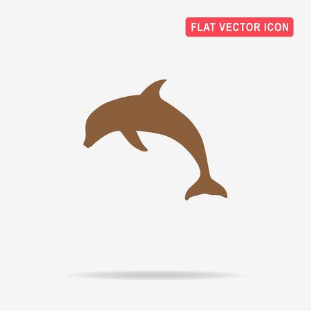 cetacea: Dolphin icon. Vector concept illustration for design.