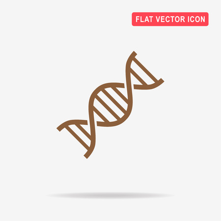 DNA icon. Vector concept illustration for design.
