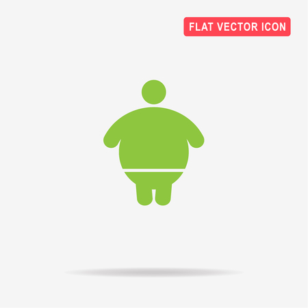 Overweight man icon. Vector concept illustration for design.