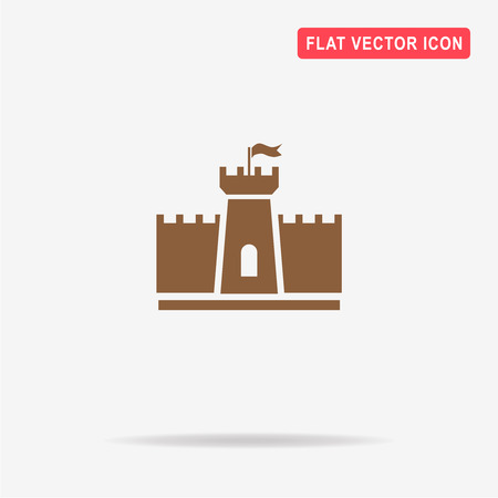 chateau: Castle icon. Vector concept illustration for design. Illustration