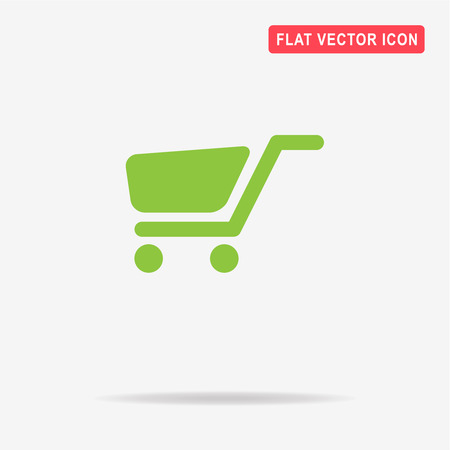 Trolley icon. Vector concept illustration for design. Illustration