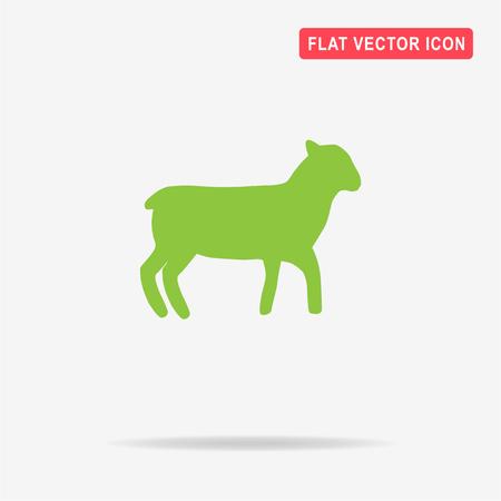 Lamb icon. Vector concept illustration for design.
