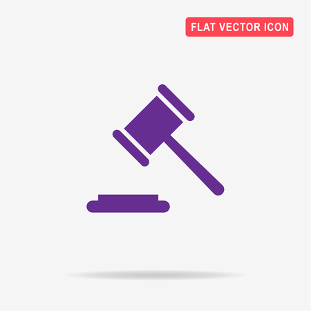 Judge gavel icon. Vector concept illustration for design.
