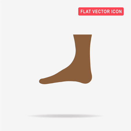 Foot icon. Vector concept illustration for design.