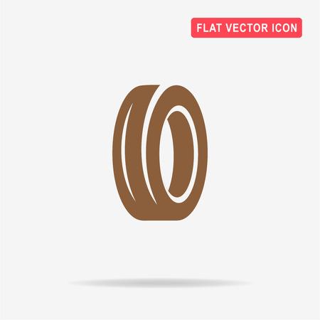 tire cover: Road tire icon. Vector concept illustration for design.
