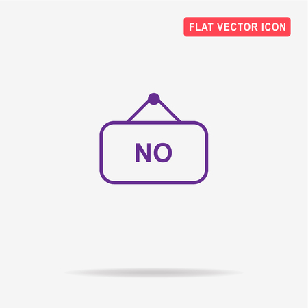 to refuse: No banner icon. Vector concept illustration for design. Illustration