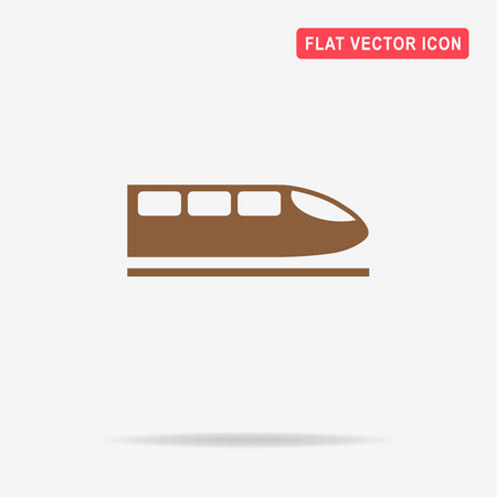 High speed train icon.  Vector concept illustration for design.