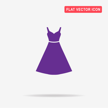 white clothes: Dress icon. Vector concept illustration for design. Illustration
