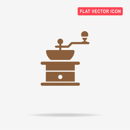 antiquated: Coffee grinder icon. Vector concept illustration for design. Illustration