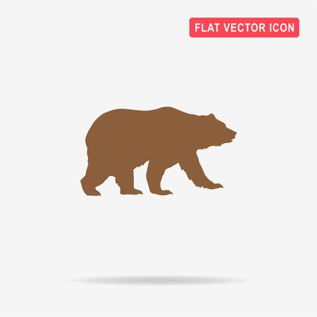 Icona dell'orso. Illustrazione concettuale vettoriale per il design.