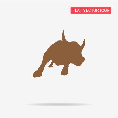 raging bull: Bull icon. Vector concept illustration for design.