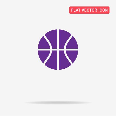 bounce: Basketball icon. Vector concept illustration for design. Illustration