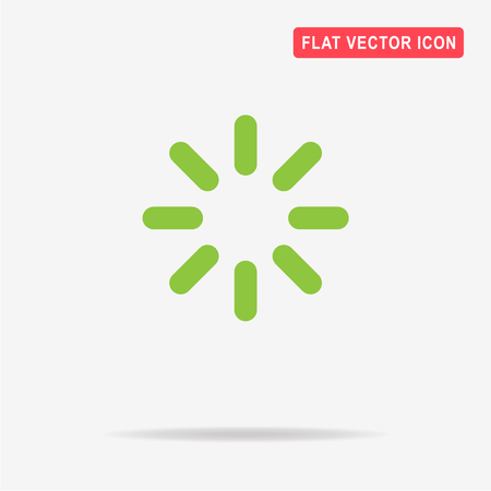 Loading icon. Vector concept illustration for design.