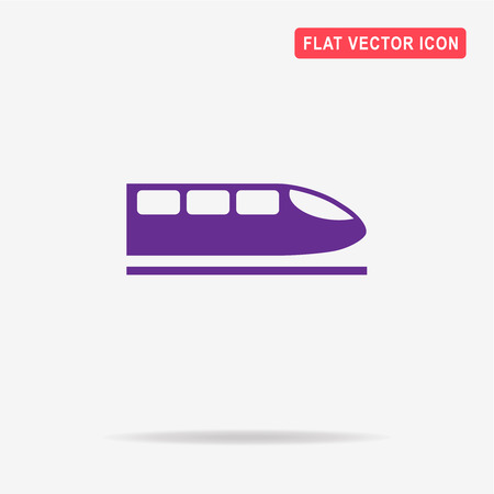 high speed train: High speed train icon.  Vector concept illustration for design.