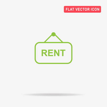 room to let: Rent icon. Vector concept illustration for design. Illustration