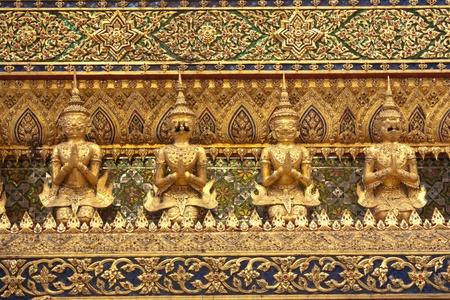 king palace: garudas in wat phra kaew grand palace, in bangkokthailand Stock Photo