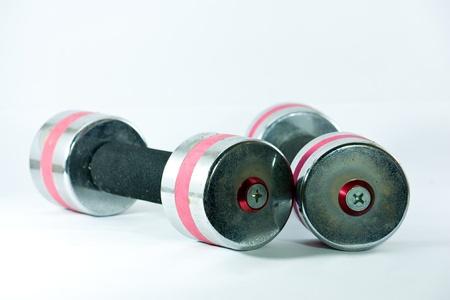pesas: cromo dumbells