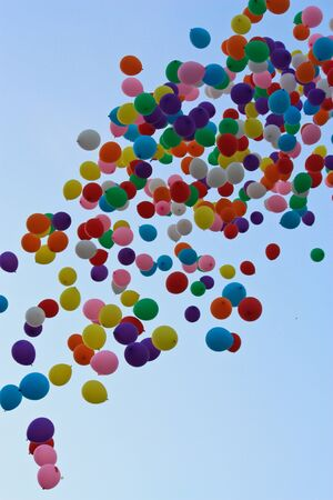colorful ballons on sky photo