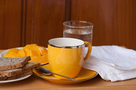 cup of coffee and breakfast Stock Photo - 15120252