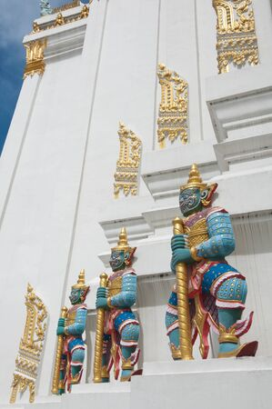 Giant Thai Design in Thailand Temple photo
