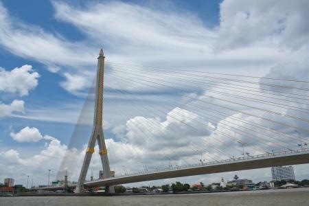rama: Rama VIII bridge in Bangkok, Thailand