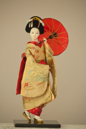 japanese doll geisha photo