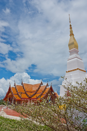 Wat Phra That Choeng Chum  in Sakonnakorn province,northeastern of Thailand  photo