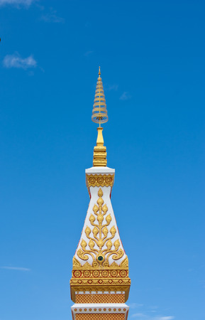 Wat Phra that Srikhun in Nakhonphanom province,northeastern of Thailand photo