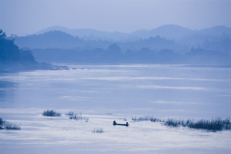 Natural view of Khong river in Chaingkhan, Thailand  photo